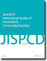 Journal of International Society of Preventive and Community Dentistry